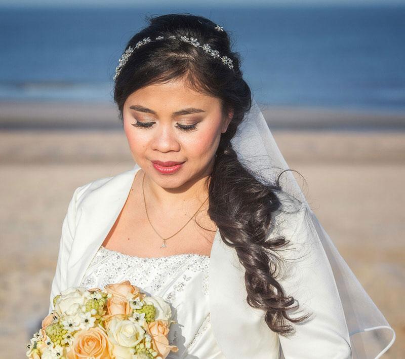 Bruidsmake-up en Haarstyling door Sandra van Uffelen |  in Den Haag, Delft, Rotterdam, Westland
