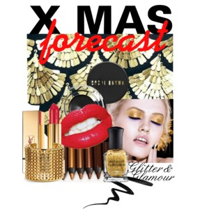 Glamorous kerst make-up