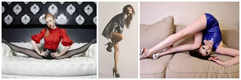 Collage onmogelijke fashion poses visagie visagiste Delft