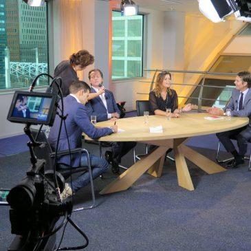 Visagiste voor Beleggen International TVshow