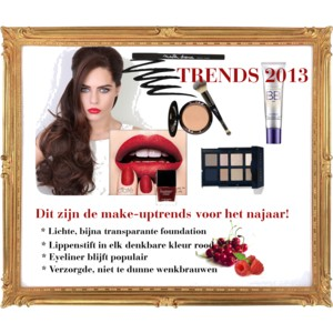 Rood is de kleur van de najaars make-up