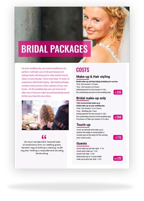 Bridal Make-up and hair styling