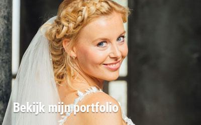 Bruidsmake-up en haarstyling | Sandra van Uffelen Den Haag, Delft, Rotterdam, Westland